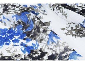 linnenlook printed flowersplant blue 1