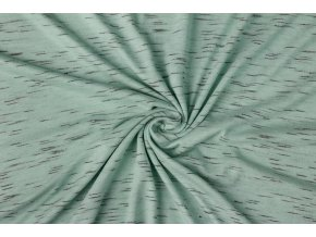 viscose slub melange mint green