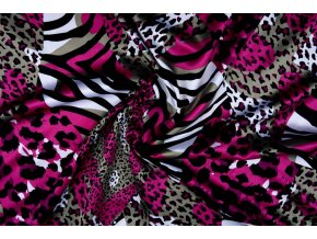 stretch satin printed multi color 5