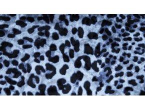 Velvet Panter modrý s digitálním tiskem