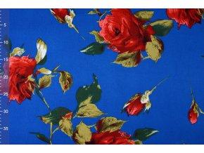 scuba pique rozen kobalt blauw