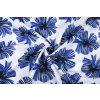 linnenlook printed tropical leaves kobalt blue 1