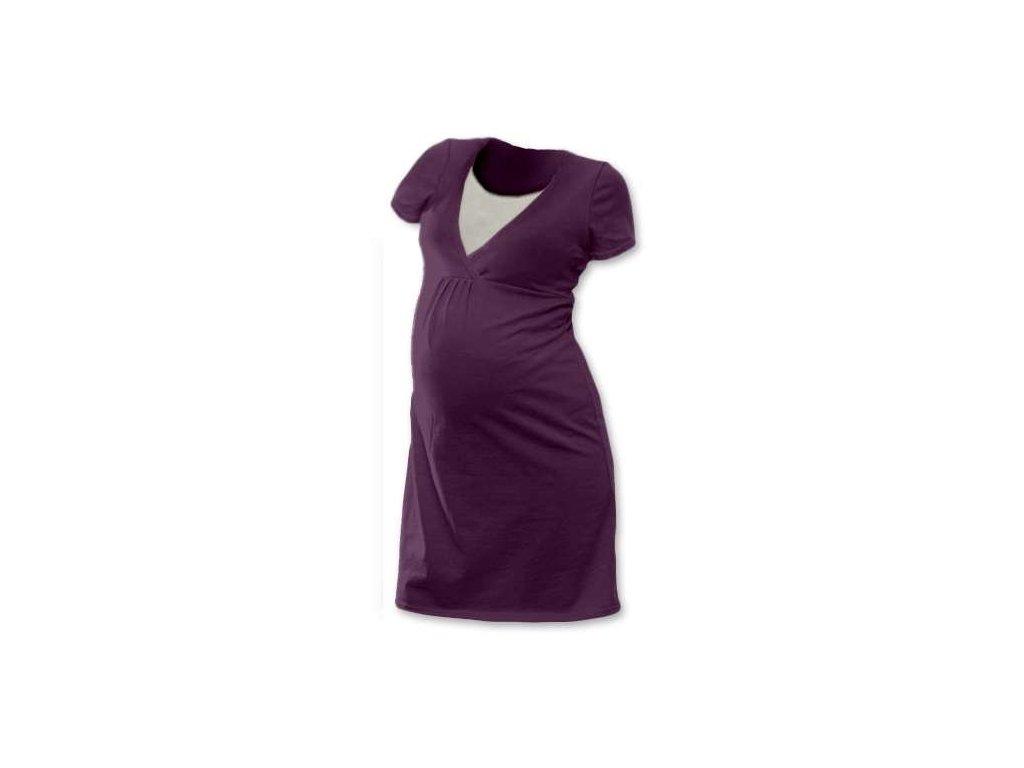 LUCIE- nočná košeľa pre pohodlné kojenie, krátky rukáv