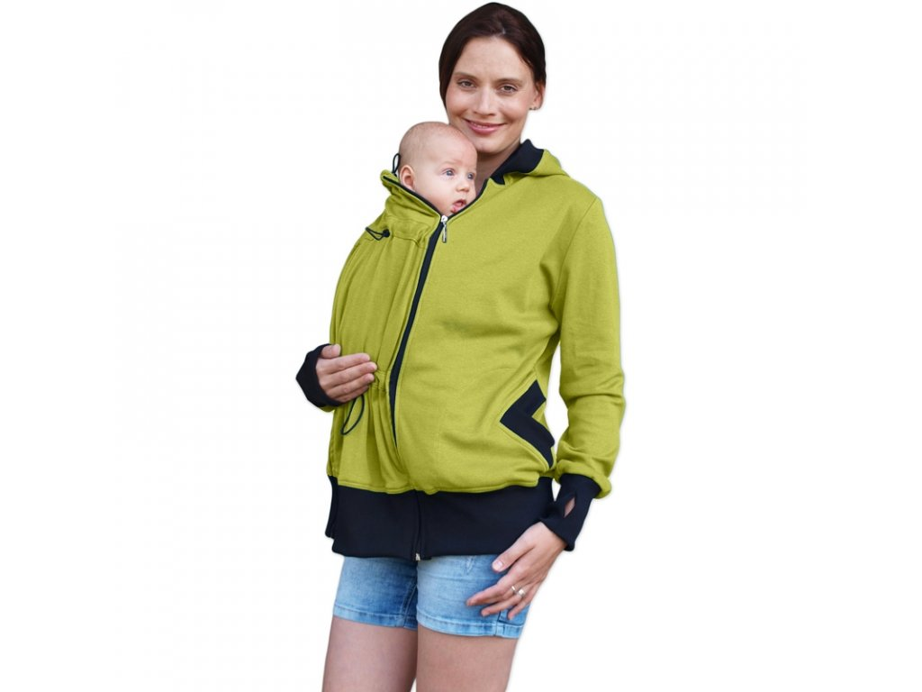 BEÁTA- BIO bavlnená mikina (nielen) pre tehotné a nosiace ženy