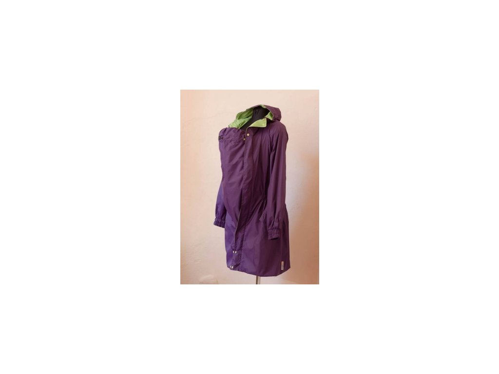 Jarný kabát - pršiplášť na nosenie detí (Varianta Fialový)