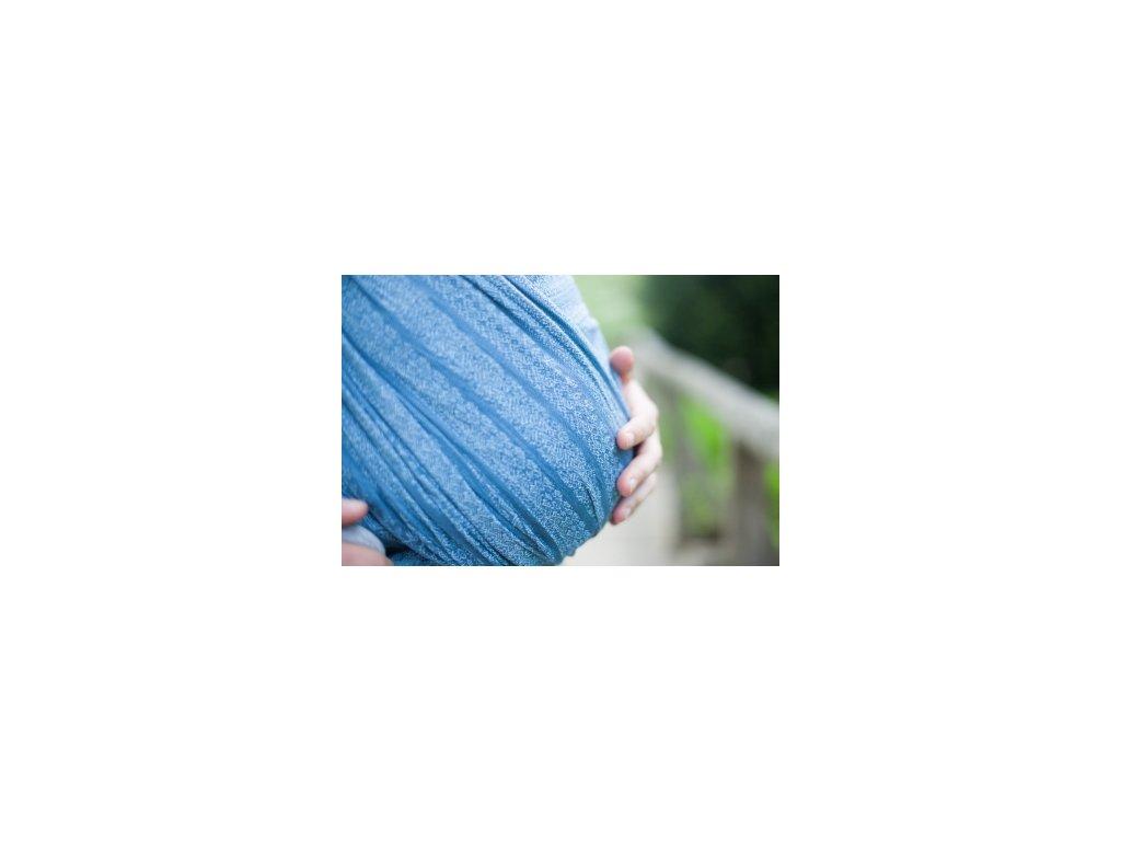 Pevná šatka na nosenie detí Ellevill Gaia (Varianta Gaia Skyfall)