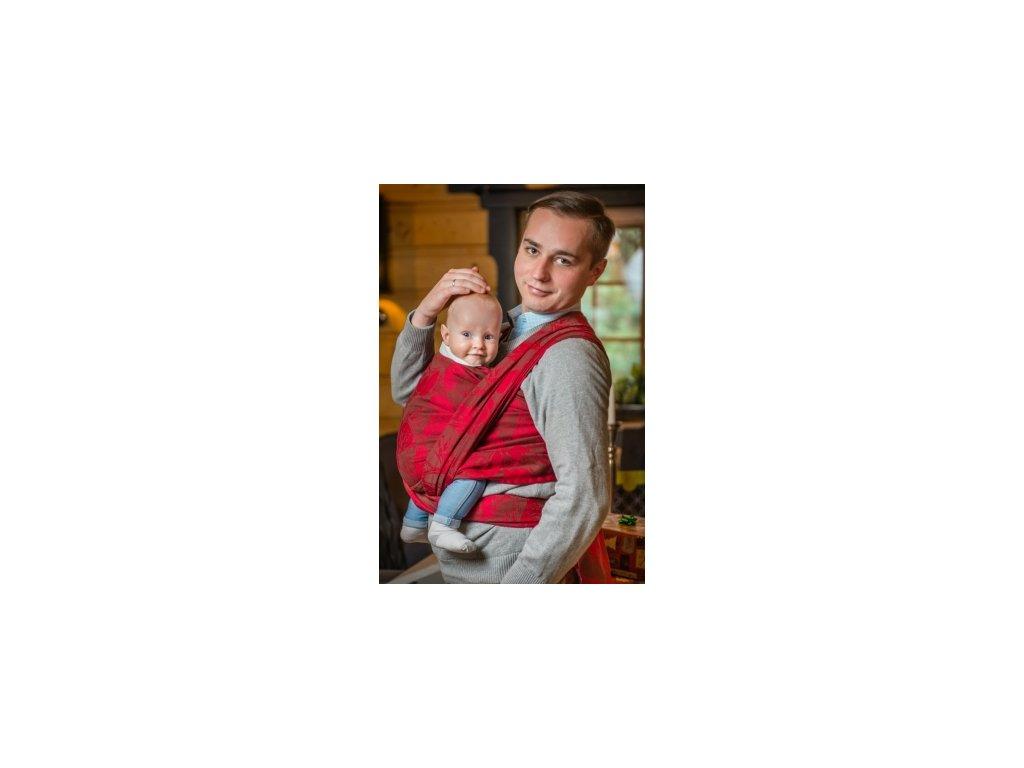 Pevná šatka na nosenie detí Lenny Lamb Líšky červená-bronzová (Varianta 4,6)