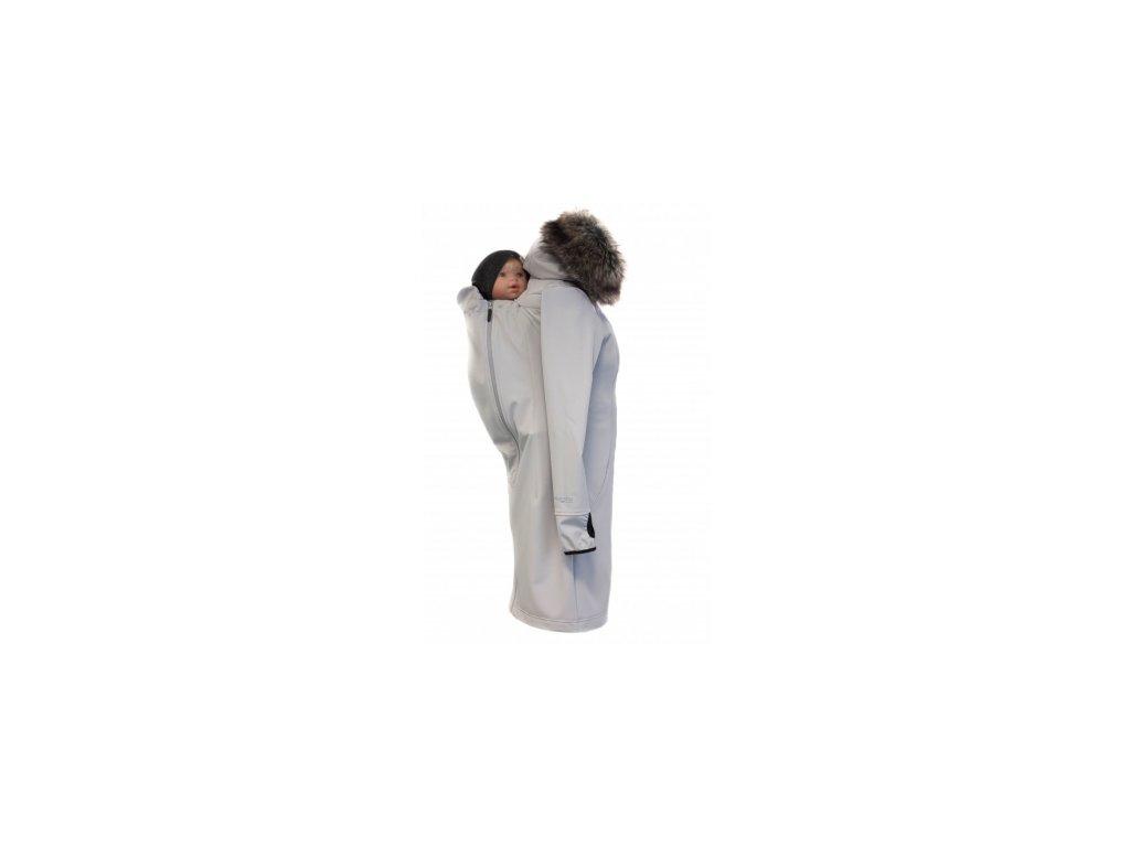 Softshellový kabát na nosenie detí Angel Wings (Varianta Svetlo šedá)