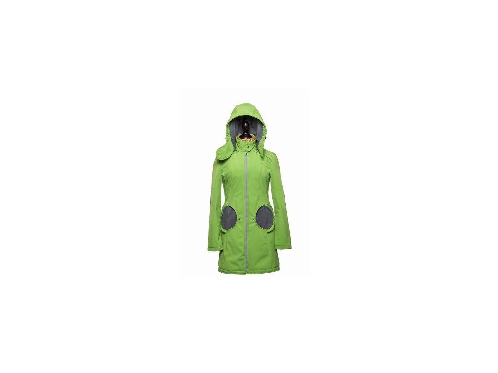 Softshellový kabát na nosenie detí Liliputi (Varianta Zeleno-šedý)