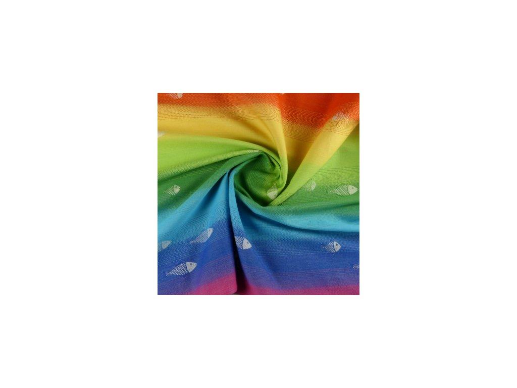 Šatka na nosenie detí Didymos - Limitovaná edícia - Rainbow Fish (Varianta 4,2)