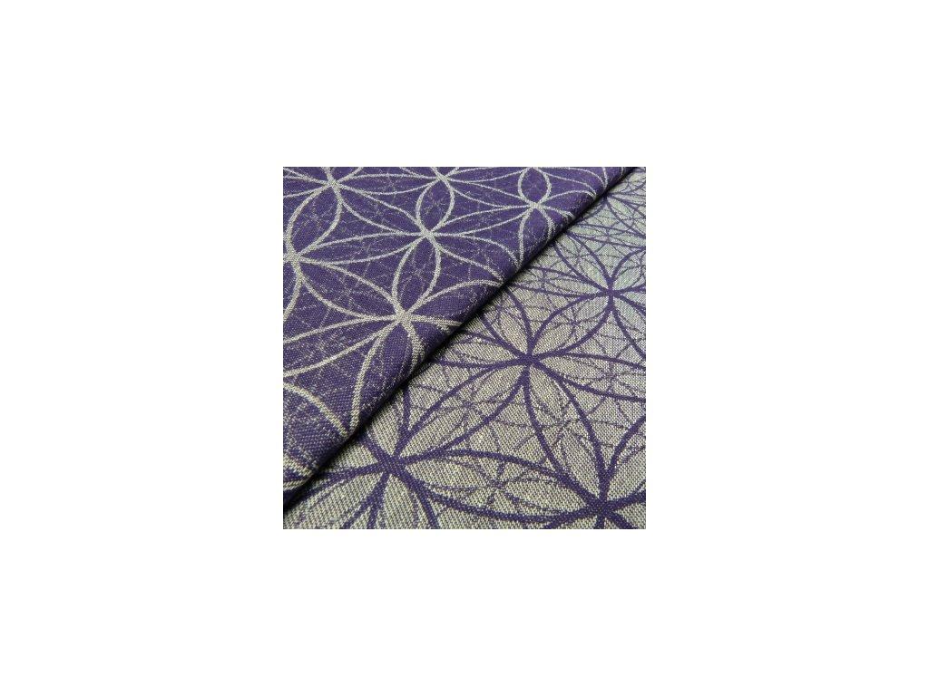 Šatka na nosenie detí Didymos - Limitovaná edícia - Flower of lite Amethyst (Varianta Flower of life Amethyst)