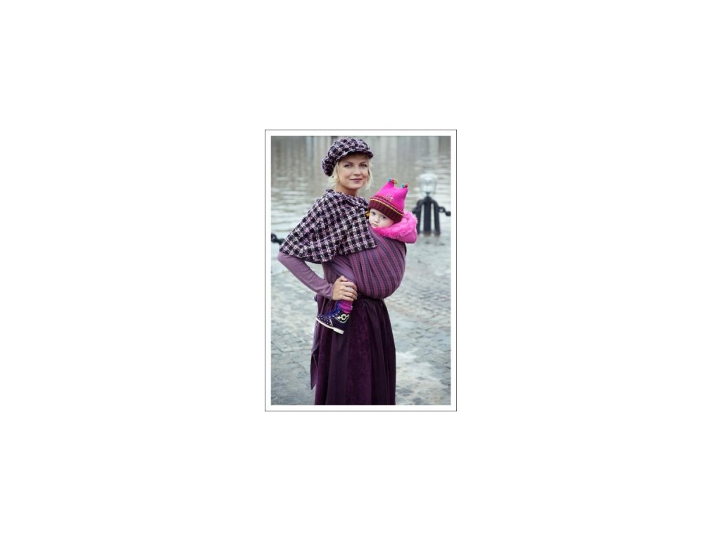 Šatka na nosenie detí Ellevill vlna/bavlna (Varianta 4,7)