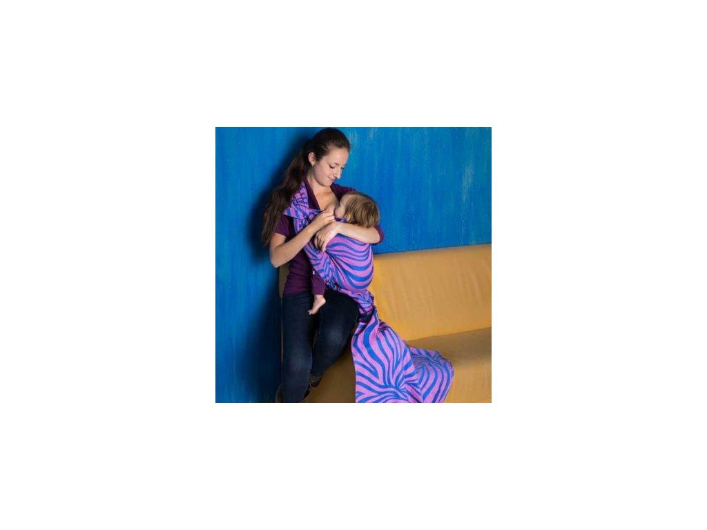 Šatka na nosenie detí Fidella Shebra (Varianta pink)