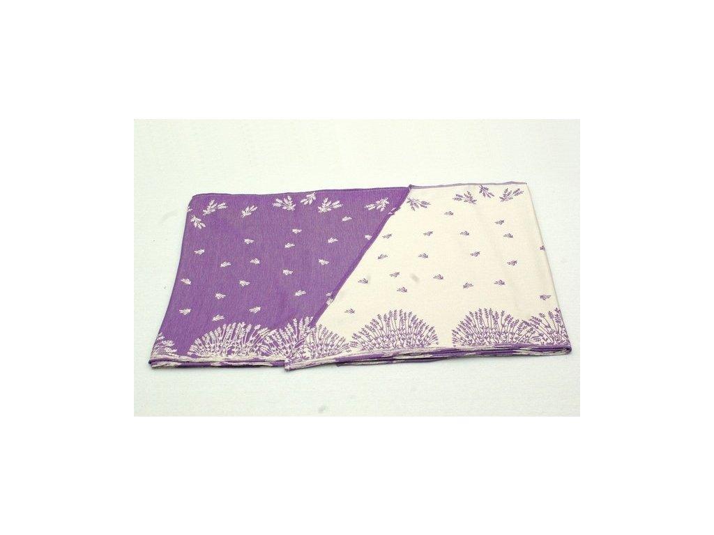 satek na noseni miminek a deti sanami levandule fialova detail vzoru 640
