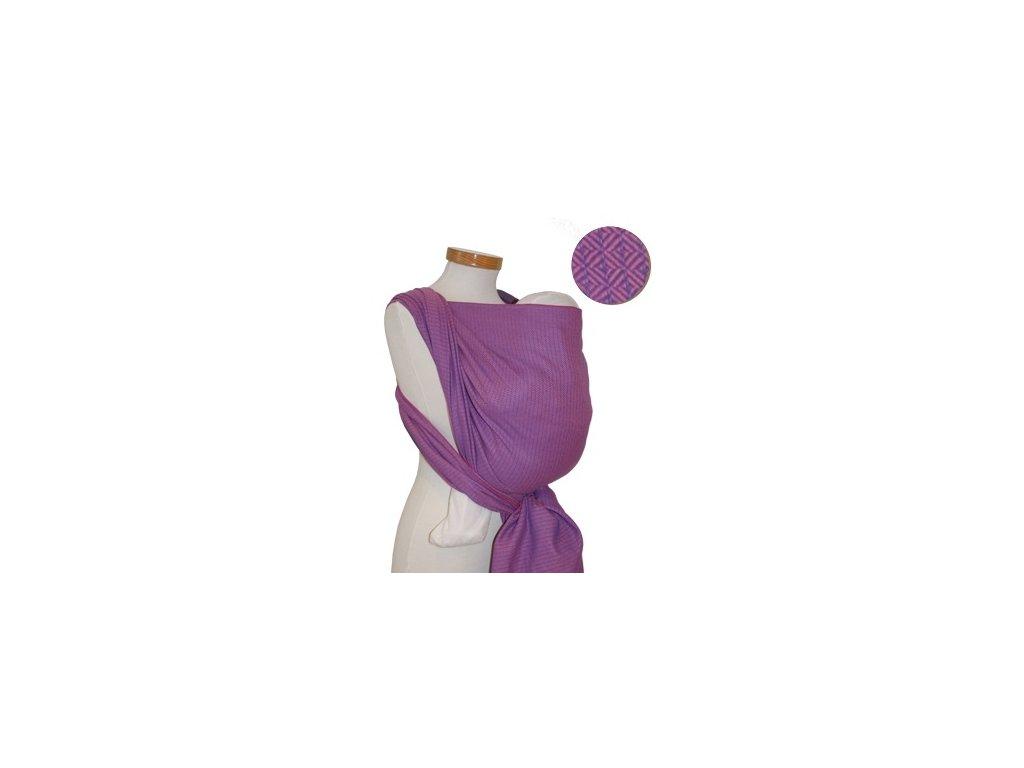 Požičovňa- šatka veľkosť 6, Storchenwiege Leo rosé (100% bavlna)