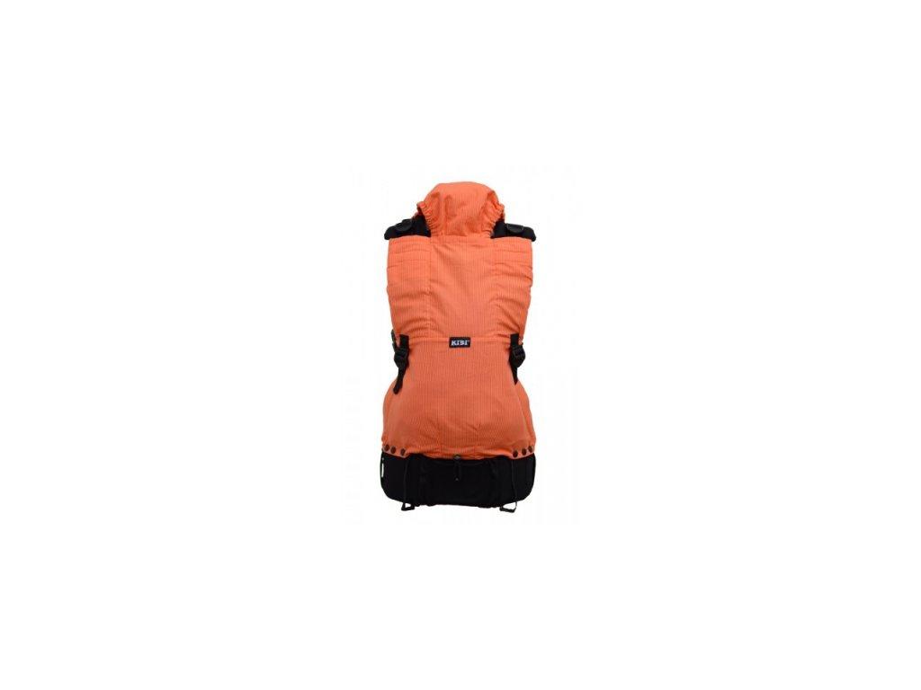 Požičovňa- (4/6 m. - 3/4 r.) ergonomický nosič Kibi- oranžové pruhy