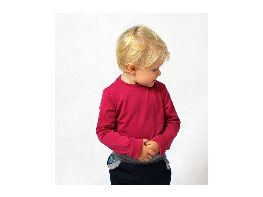 Detské tričko z merino vlny (Adelay)