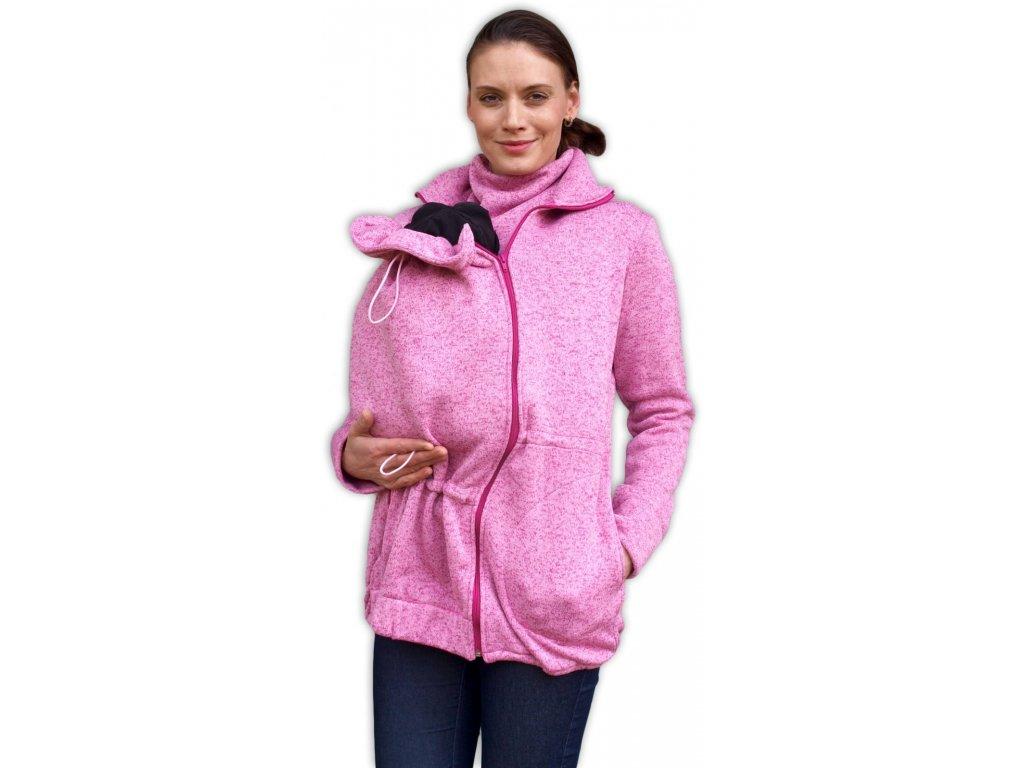 RENATA- sveter z pleteného fleecu na nosenie detí