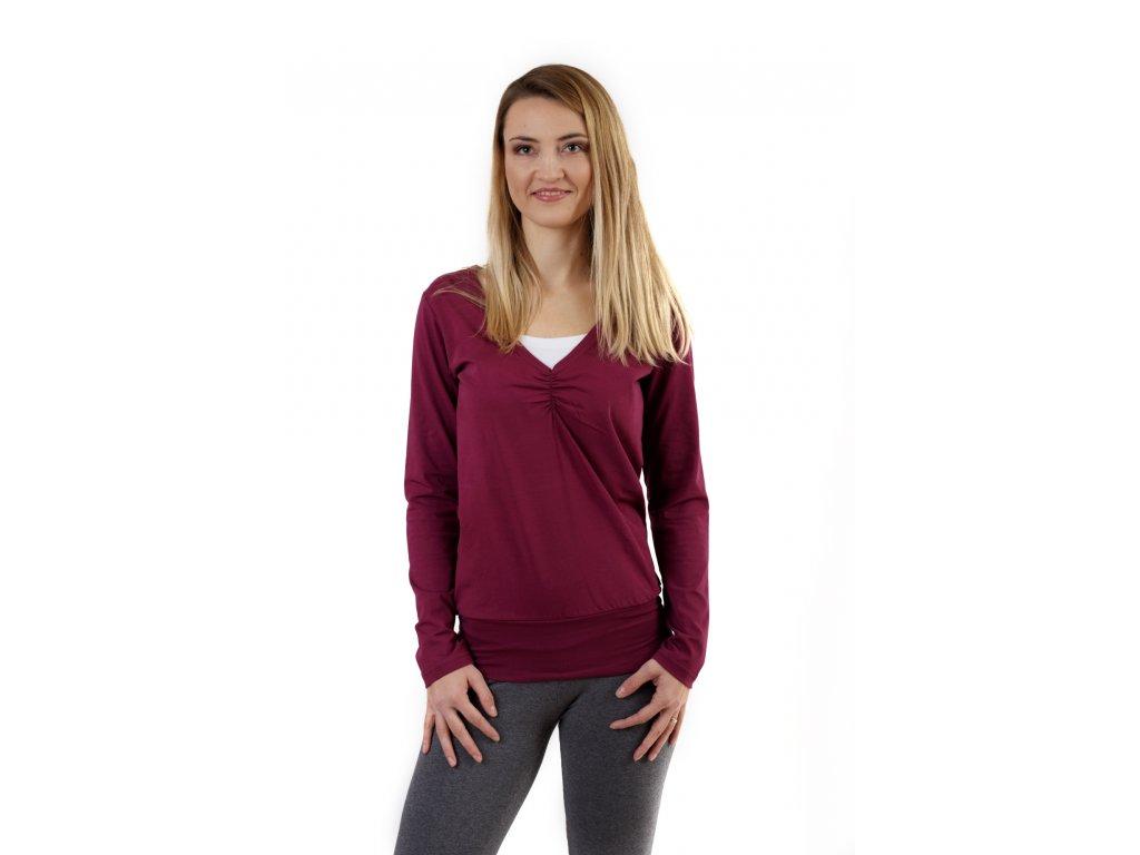 KARLA- tričko pre diskrétne a pohodlné kojenie, dlhý rukáv