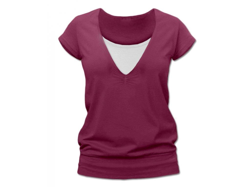KARLA- tričko pre diskrétne a pohodlné kojenie, krátky rukáv
