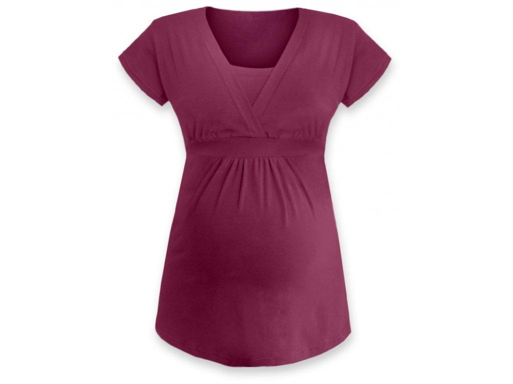 ANIČKA- tunika pre diskrétne a pohodlné kojenie, krátky rukáv
