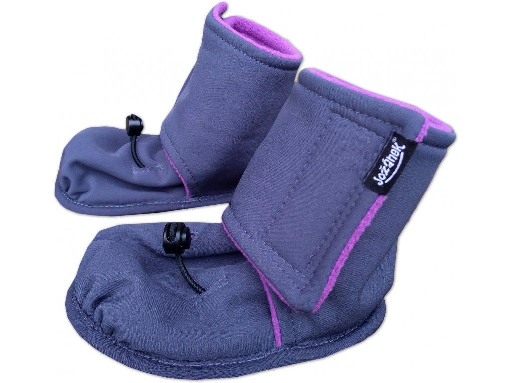 Softshellové botičky (nielen) do nosiča či šatky