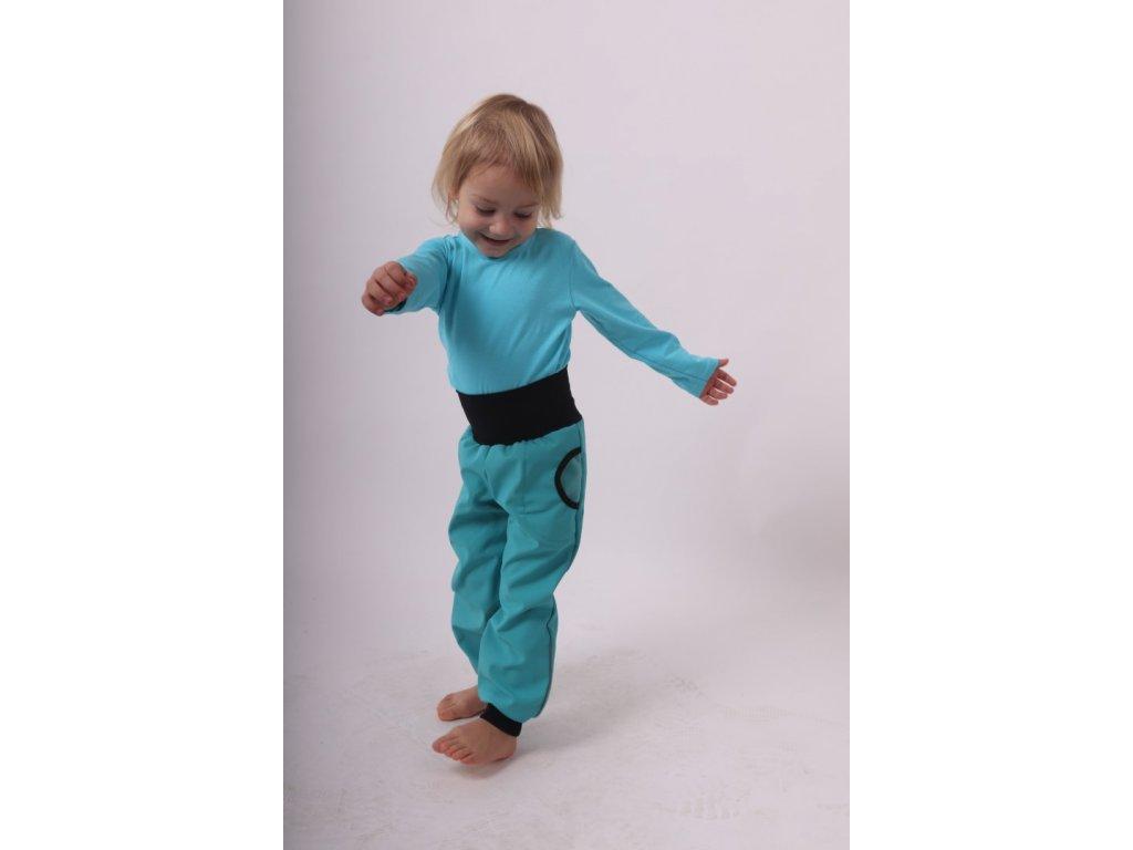 detske softshellove kalhoty s naplety a regulaci pasu antracitove sede velikost 86 (1)