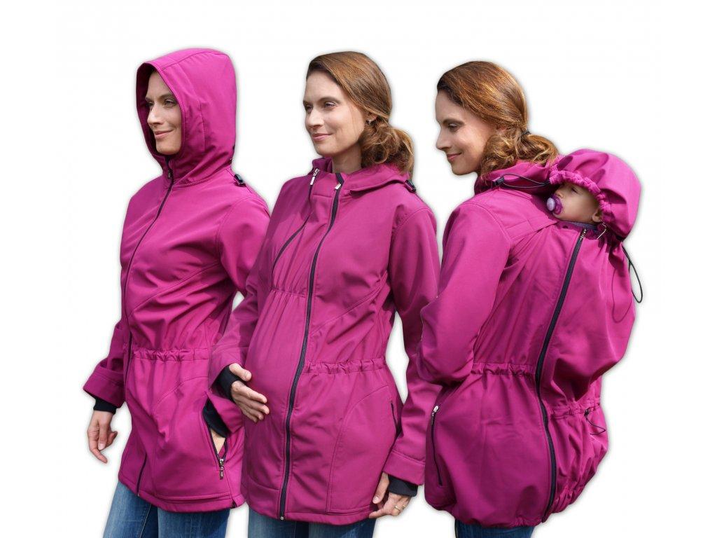 ALICE 2 - tehotenská a nosiaca softshellová bunda (nosenie vpredu a vzadu)