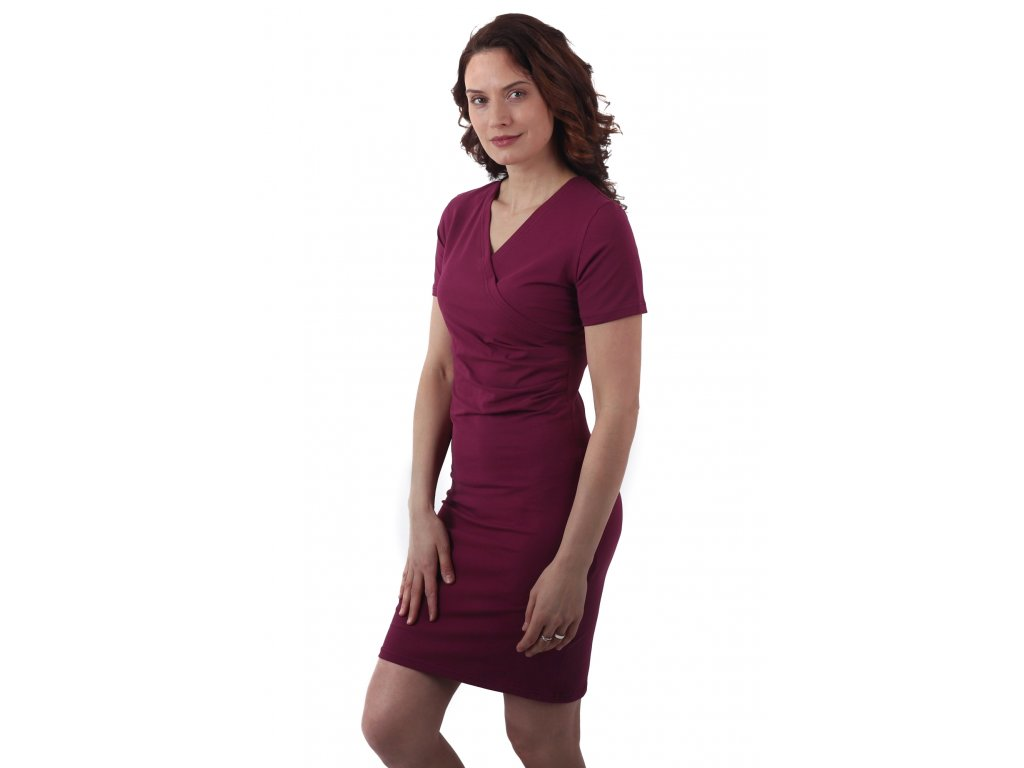 AMÁLIE- dámské šaty, krátky rukáv
