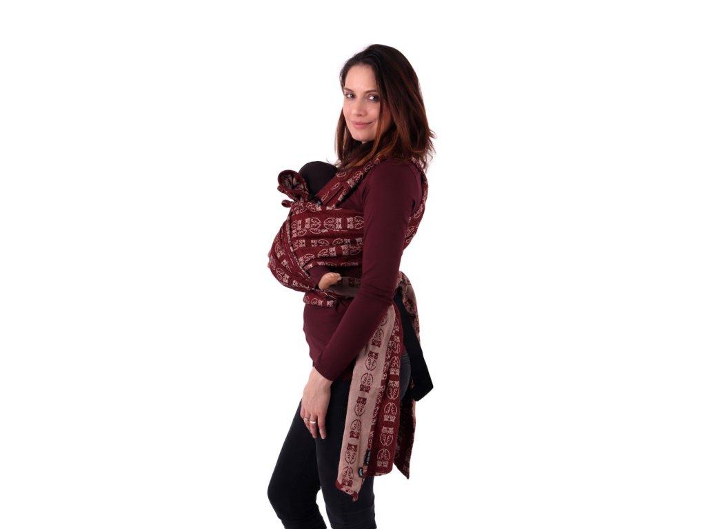 satkove nositko pro deti od narozeni aneta bordo sovy