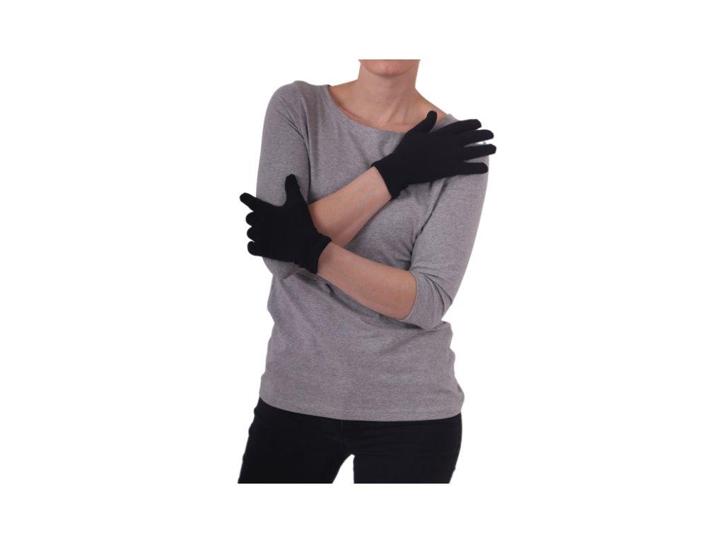 rukavice bavlnene damske cerne