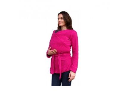 Zavinovací fleecový kabát na nosenie detí Jožánek (Varianta Tmavoružová)