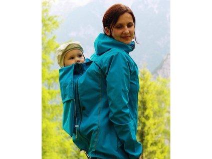 Tenká softshelová bunda na nosenie detí do kabelky (Adelay)