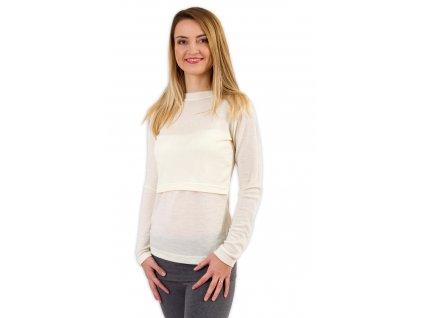 MILA- tričko na kojenie z merino vlny, dlhý rukáv