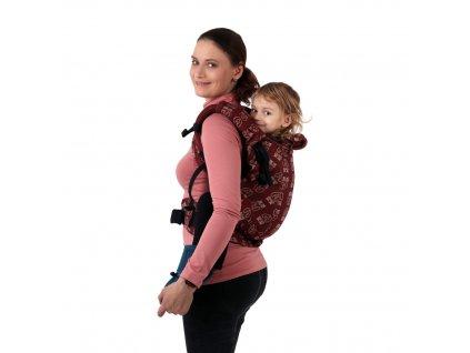 ergonomicke nositko batoleci toddler dan malinove ruzove diamanty