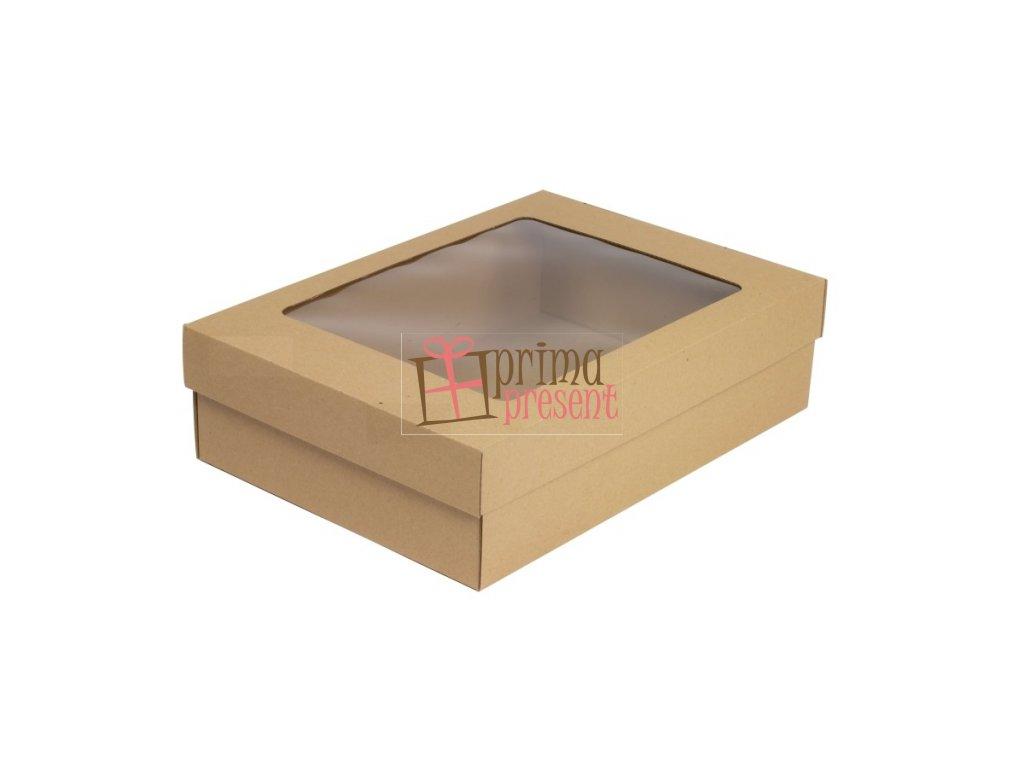 Darčeková krabica s okienkom