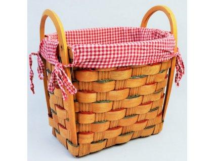 Darčekový košík kockovaný