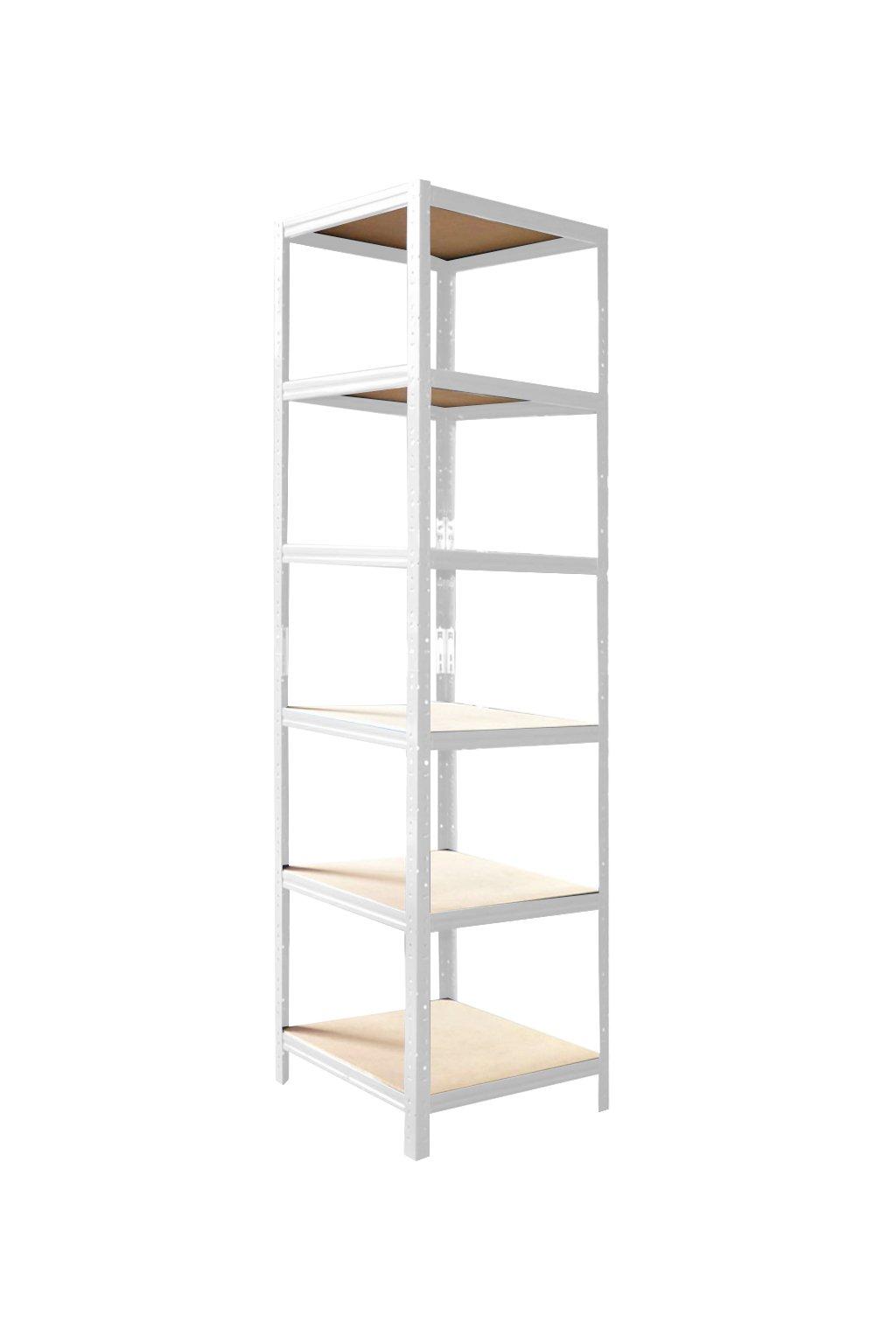 policový regál bílý 200x50x45 cm