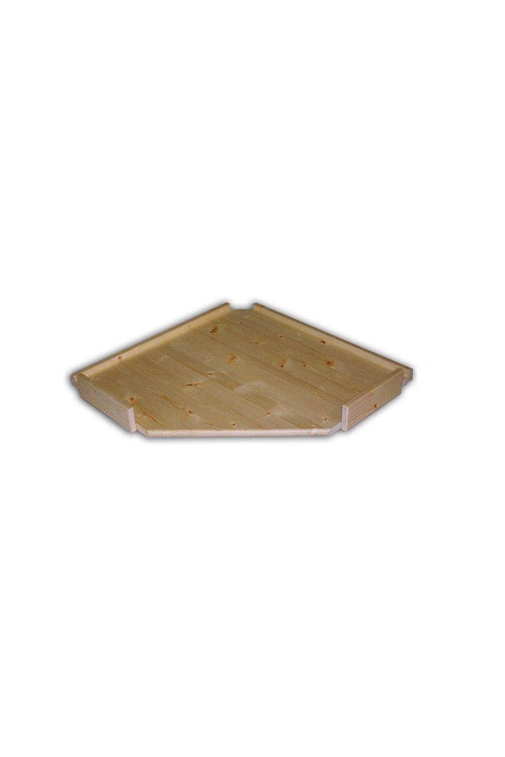 Dřevěná police rohový regál 60x60x34