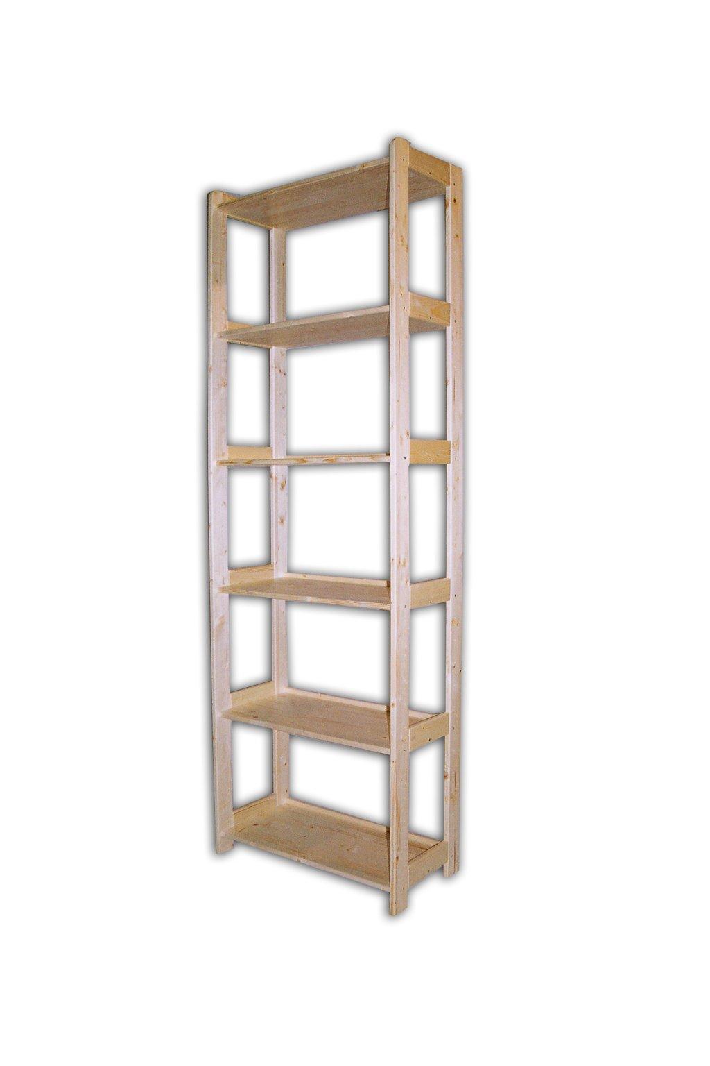 dřevěný regál 204x68x34