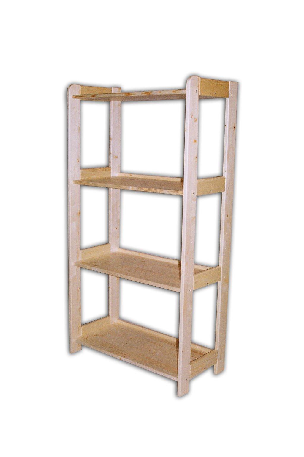 Dřevěný regál 128x45x34
