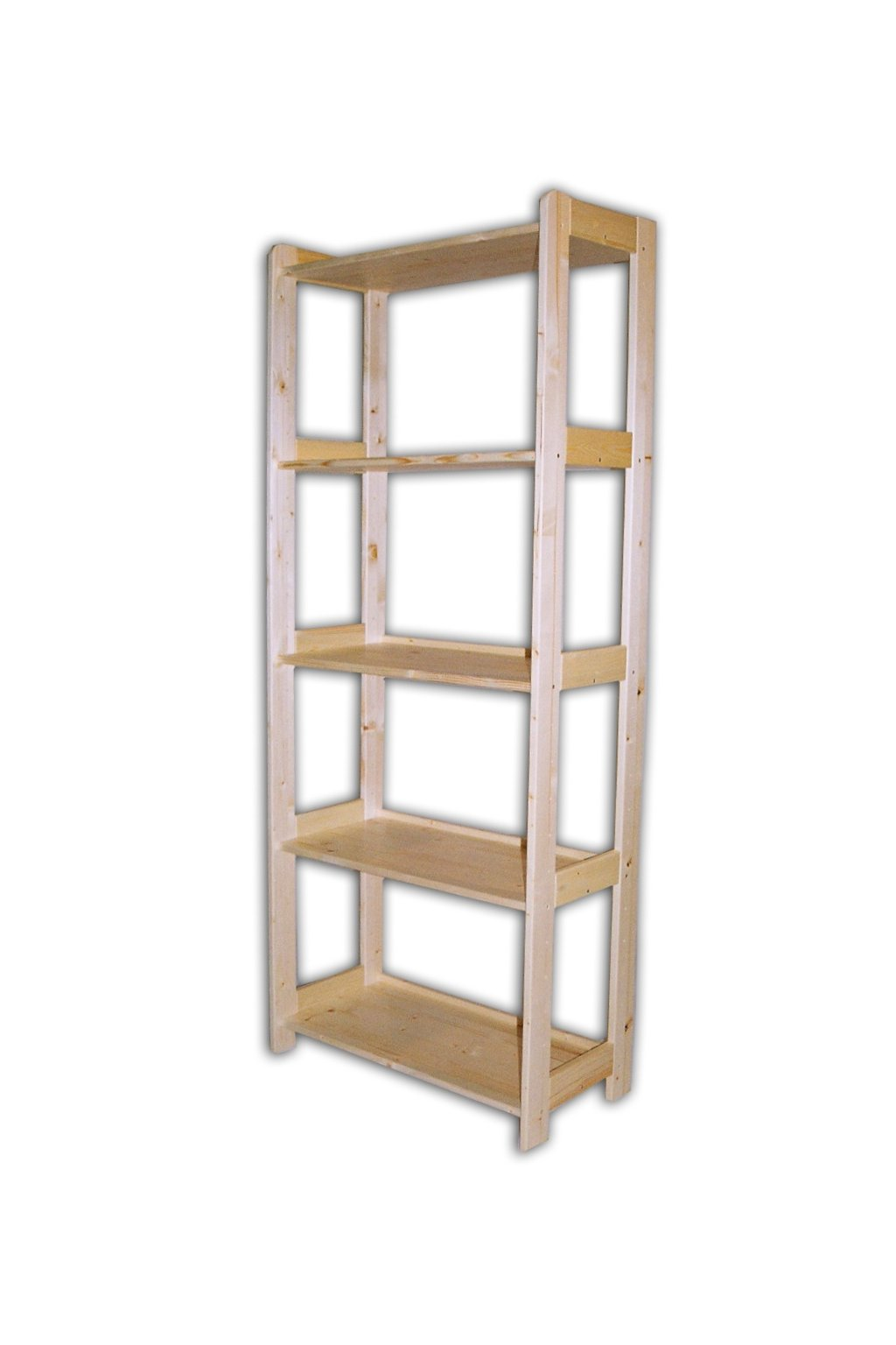 dřevěný regál 166x45x34