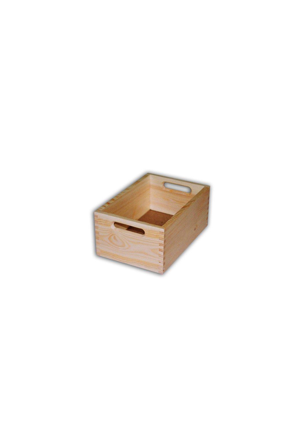 dřevěná bedýnka 30x20x13cm