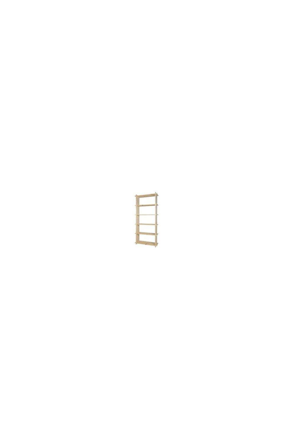 Dřevěný regál 185x80x27cm