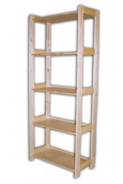 dřevěný regál 166x68x44