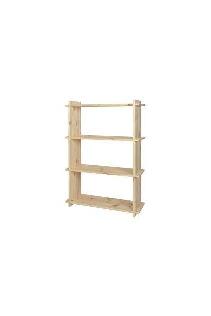Dřevěný regál 118x80x27cm