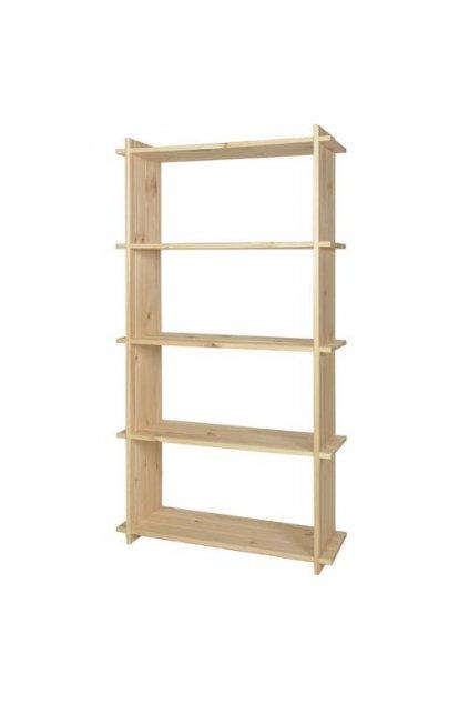 Dřevěný regál 150x80x27cm