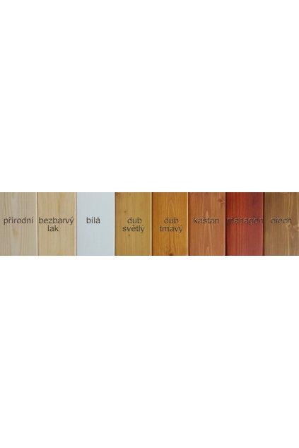 Dřevěný regál 185x115x36cm