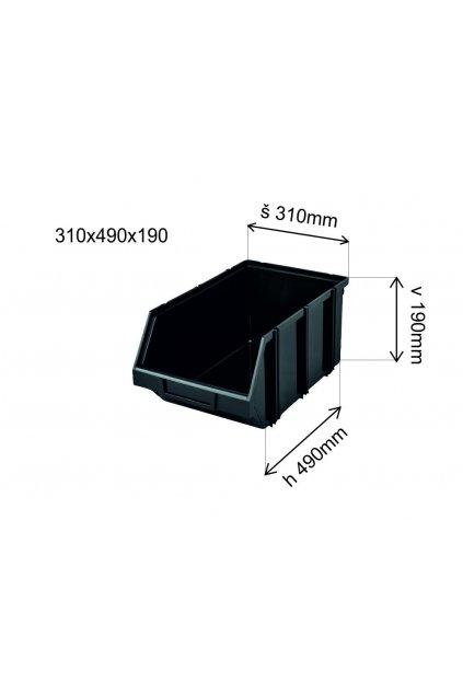 Plastový box 310x490x190