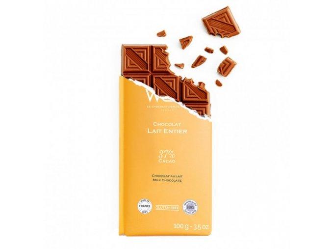 tablette chocolat au lait entier
